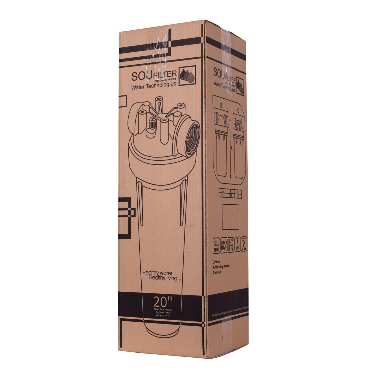 هوزینگ تصفیه آب 20 اینچی جامبو ورودی 2 اینچ ضد جلبک
